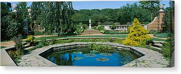 Pond In A Botanical Garden, English Canvas Print by Panoramic Images