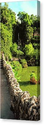 Pond In Japanese Tea Garden, San Canvas Print by Panoramic Images