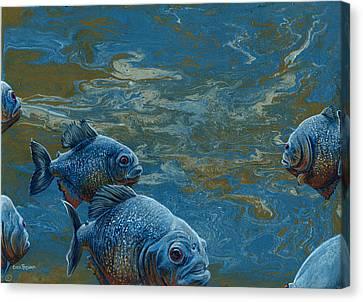 Pond Thugs Canvas Print by Cara Bevan