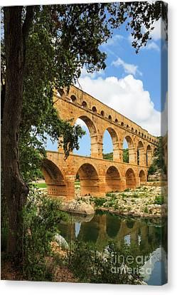 Pont Du Gard Canvas Print by Inge Johnsson