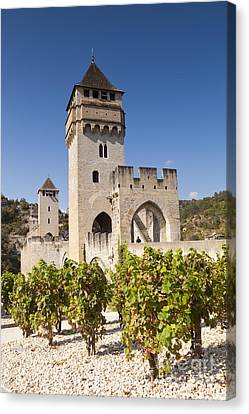 Pont Valentre Cahors Midi-pyrenees France Canvas Print by Colin and Linda McKie