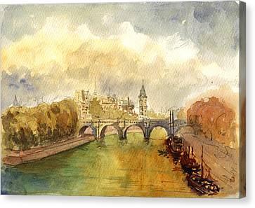 Ponte Neuf Paris Canvas Print by Juan  Bosco