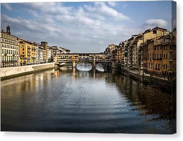 Ponte Vecchio Canvas Print by Dave Bowman