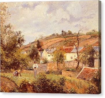 Pontoise Canvas Print by Camille Pissarro
