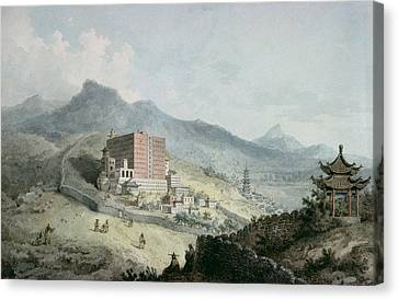 Poo Ta La, Or Great Temple Of Fo, Near Zehol,tibet, China Canvas Print by William Alexander