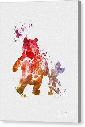 Pooh Bear Canvas Print by Rebecca Jenkins