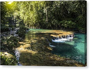 Pools Of Semuch-champey Canvas Print by Yuri Santin