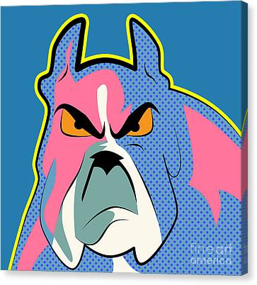Pop Art Dog  Canvas Print by Mark Ashkenazi