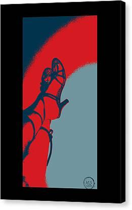 Pop Art Shoes In Red Canvas Print by Absinthe Art By Michelle LeAnn Scott