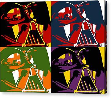 Pop Art Vader Canvas Print by Dale Loos Jr