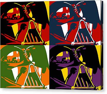 Pop Art Vader Canvas Print by Dale Loos Jr