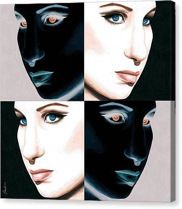 Pop Barbra Canvas Print by Bruce Lennon