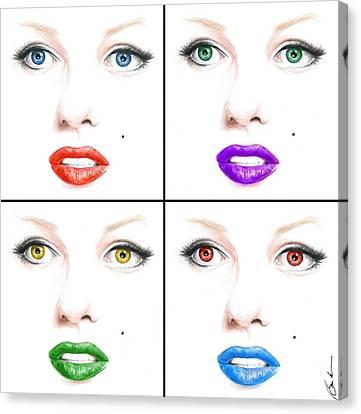 Pop Marilyn Canvas Print by Bruce Lennon