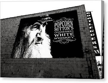 Popcorn Sutton's Tennessee White Whiskey Canvas Print by Dan Sproul