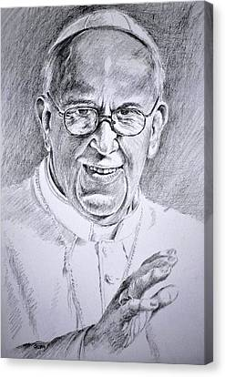 Pope Franciscus Canvas Print by Henryk Gorecki