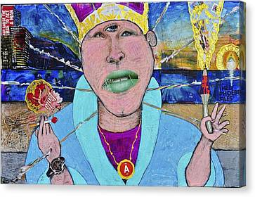 Pope Of Pie Canvas Print by Billy Knows
