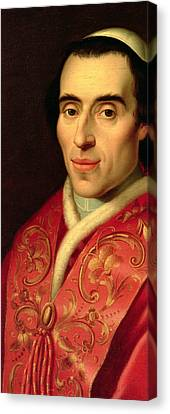 Pope Pius Vii Canvas Print by Anonymous