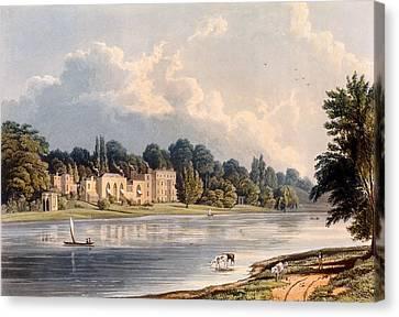 Popes Villa At Twickenham, 1828 Canvas Print by William Westall