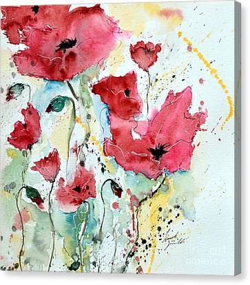 Poppies 05 Canvas Print by Ismeta Gruenwald