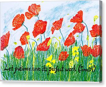 Poppies Canvas Print by Catherine Saldana