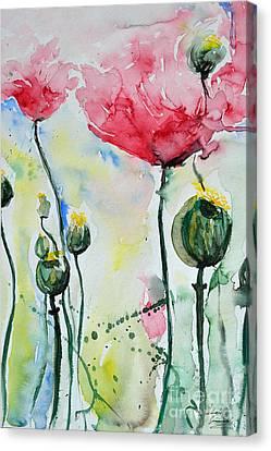 Poppies Canvas Print by Ismeta Gruenwald