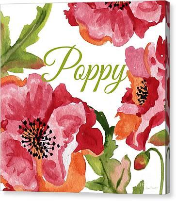 Poppy-jp2588 Canvas Print by Jean Plout