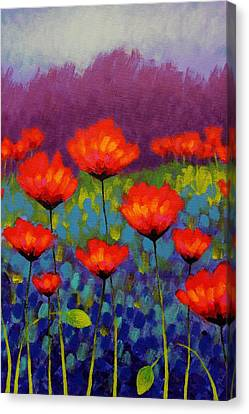 Poppy Meadow   Cropped Canvas Print by John  Nolan
