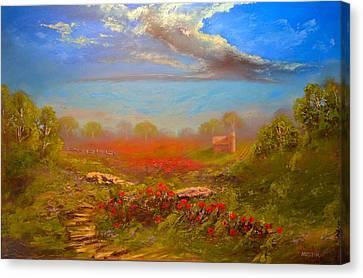 Poppy Morning Canvas Print by Michael Mrozik