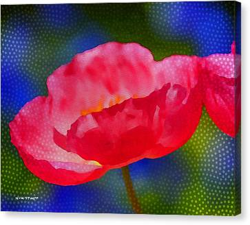 Poppy Series - Touch Canvas Print by Moon Stumpp