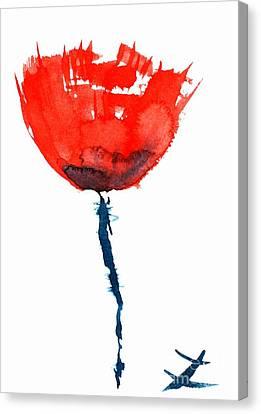 Poppy Canvas Print by Zaira Dzhaubaeva