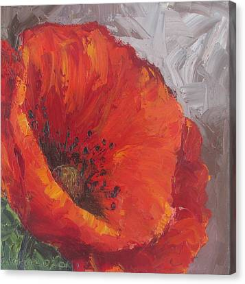 Poppy1 Canvas Print by Susan Richardson