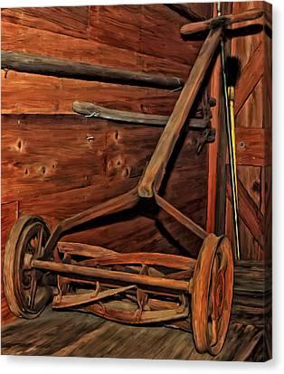 Pop's Old Mower Canvas Print by Michael Pickett