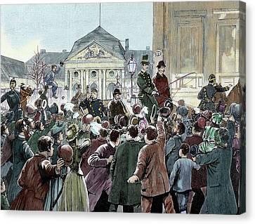 Popular Ovation To The Prince Bismarck Canvas Print by Prisma Archivo
