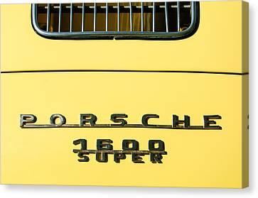 Porsche 1600 Super Rear Emblem Canvas Print by Jill Reger
