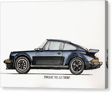 Porsche 911 930 Turbo Canvas Print by Juan  Bosco