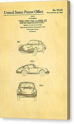 Porsche 911 Car Patent Art 1964 Canvas Print by Ian Monk