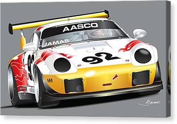 Porsche 911 Turbo Custom Canvas Print by Alain Jamar