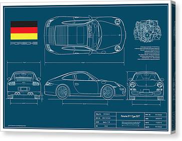 Porsche 911 Type 997 Coupe Canvas Print by Douglas Switzer