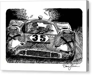 Porsche 917 Longtail Canvas Print by David Lloyd Glover