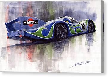 Porsche 917 Psychodelic  Canvas Print by Yuriy Shevchuk