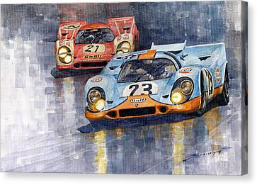Porsche 917k 1000km Zeltweg Austria 1970  Canvas Print by Yuriy Shevchuk