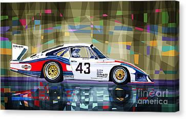 Porsche 935 Coupe Moby Dick Canvas Print by Yuriy  Shevchuk