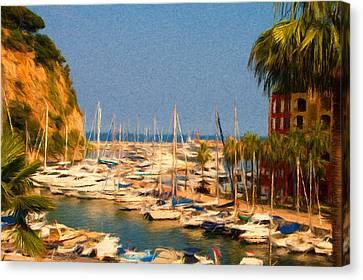Port De Fontvieille Canvas Print by Jeff Kolker