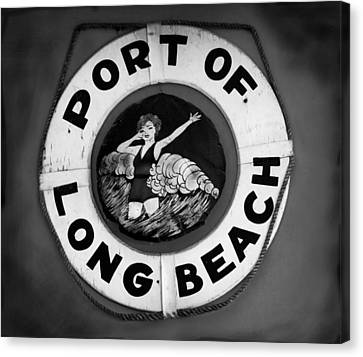 Port Of Long Beach Life Saver By Denise Dube Canvas Print by Denise Dube
