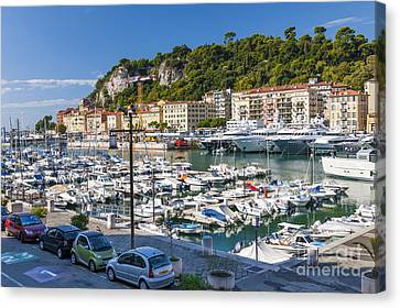 Port Of Nice In France Canvas Print by Elena Elisseeva