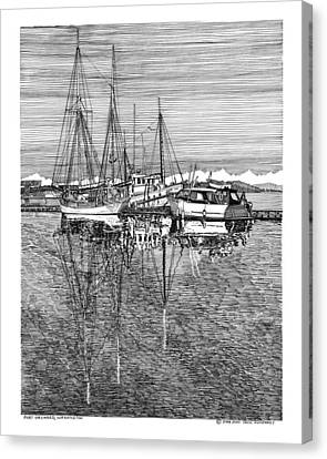 Port Orchard Reflections Canvas Print by Jack Pumphrey