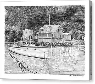 Port Orchard Washington Waterfront Home Canvas Print by Jack Pumphrey