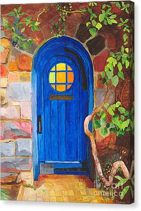 Canvas Print featuring the painting Portal by Rodney Campbell
