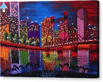 Portland City Light 37 Canvas Print by Portland Art Creations