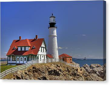 Portland Head Light Canvas Print by Joann Vitali